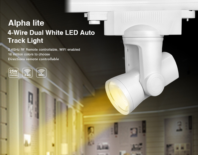 Led Lampen Kleurtemperatuur : Milight ac85v 265v 25 w 4 draad dual wit led auto track licht