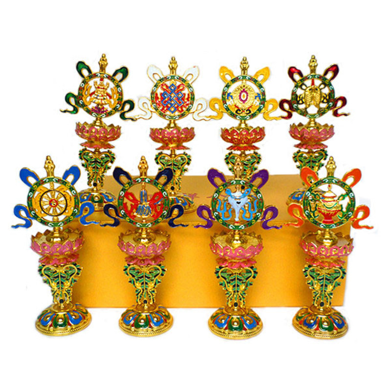 Buddhist supplies wholesale manufacturers instruments Home Furnishing decorations auspicious symbols 7 inch eight auspicious orn image