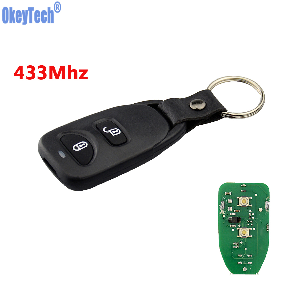 OkeyTech High Quality Car Remote Control Key Fob 2+1 3 Buttons 433MHz for Hyundai Tucson Santa Fe 2005-2009 No LOGOOkeyTech High Quality Car Remote Control Key Fob 2+1 3 Buttons 433MHz for Hyundai Tucson Santa Fe 2005-2009 No LOGO