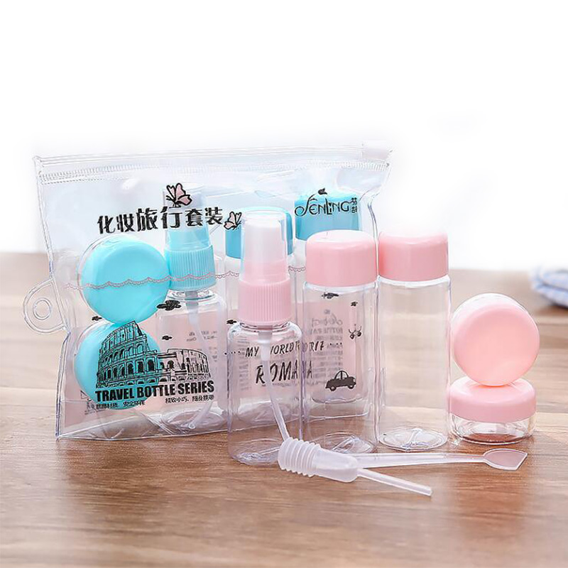 Fashion Plasic Empty Bottle Travel Makeup Spray Bottle Cream Box Portable Cosmetics Beauty Travel Set