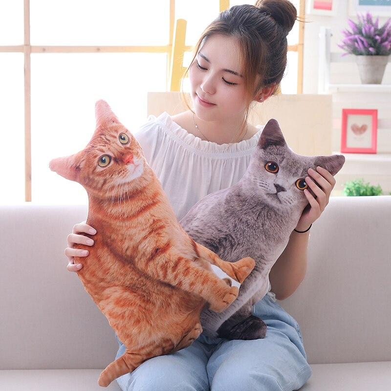 Image 3 - Babiqu 1pc 50cm Simulation Plush Cat Pillows Soft Stuffed Animals Cushion Sofa Decor Cartoon Plush Toys for Children Kids Gift-in Stuffed & Plush Animals from Toys & Hobbies