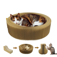 Cat Scratcher Cardboard Collapsible Cat Toys Scratcher Lounge Bed Interactive Cat Kitten Scratching Pad Toy Play Pet Products