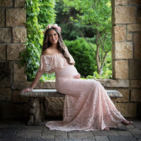 2019 New Summer Sexy Maternity Dresses for Photo Shoot Pregnancy Photograph Props Lace Maxi Wedding Party Gown dress Pregnant