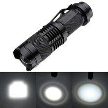 SK68 CREE XPE Q5 LED Mini Flashlight Portable Zoomable CREE Q5 led torch flashlight lamp Lighting For AA or 14500