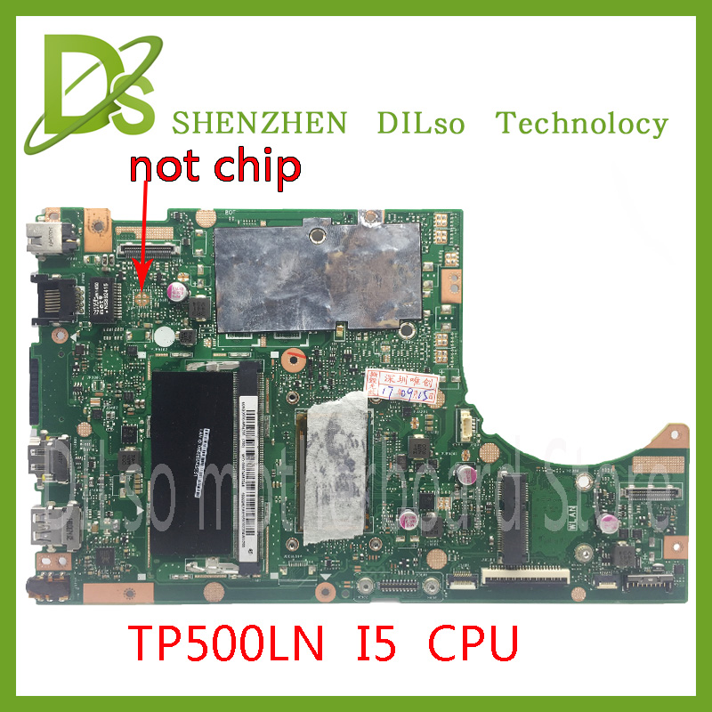 Original For ASUS TP500LN TP500LA Laptop motherboard I5 5200U TP500LN mainboard REV2.0 4GB RAM memory Test work 100%