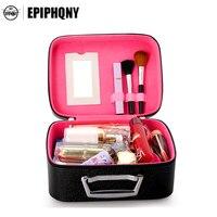 Famous Brand Travel Women Professional Cosmetic Bag Portable Plaid Cosmetic Case Diamond Small Organizer Cute Makeup