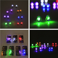 Hot sell 100pcs (2pcs/pair) heart frame Led blinking earring stud in box for Party Bar ect.7kinds color randomly shipping.