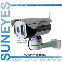 SunEyes SP-P1804SWZ 1080 P IP Caméra Sans Fil Extérieure PTZ 2.0MP avec TF/Micro SD Slot Pan/Tilt/Zoom rangée IR de Vision Nocturne 100 M
