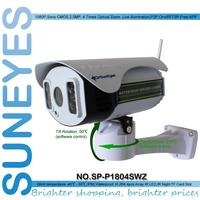 SunEyes SP P1804SWZ 1080P IP Camera Wireless Outdoor PTZ 2 0MP With TF Micro SD Slot
