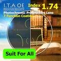 Adulto 1.74 Freeform Índice Photochromic Transição Progressivas Multifocais Prescrição Óptica Óculos de Lente 7 Revestimento
