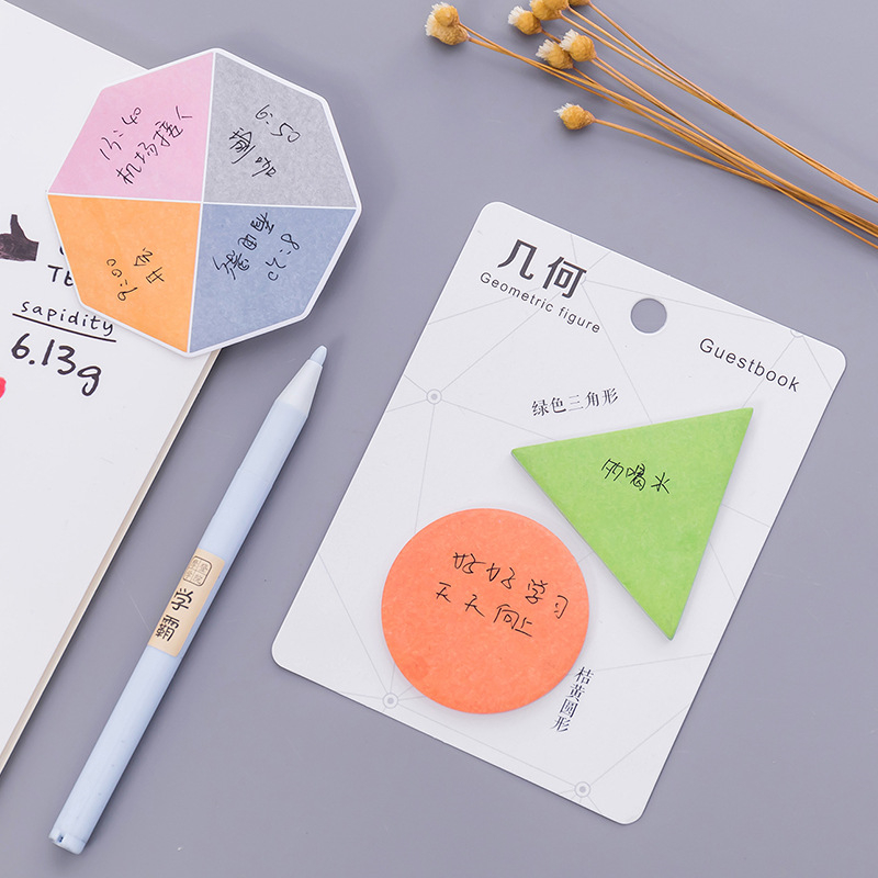 DL Japan and South Korea stationery creation simple geometry convenience paste message notes N post Exquisite office supplies