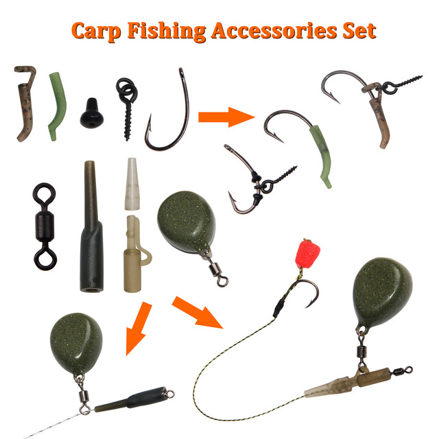 Carp Fishing Tackle Box, 217pcs/box