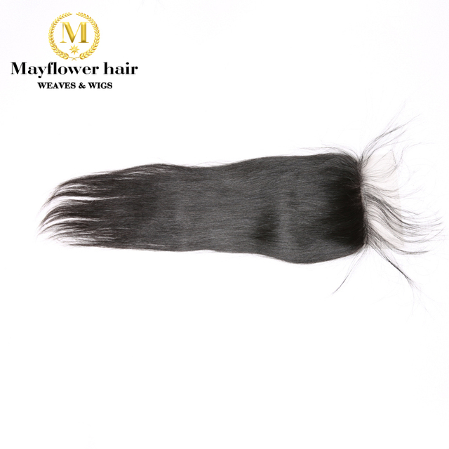 MFH 3/4 пучки 100% Необработанные малазийские прямые волосы с 4x4 швейцарские кружева закрытие натуральный цвет необработанные девственные воло...