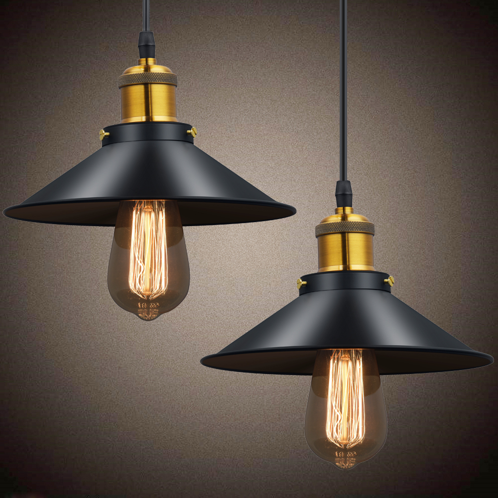 Moderna lámpara colgante nórdico cobre iluminación Vintage Rusia Loft comedor dormitorio colgante luces Retro E27 Edison lámpara colgante Metal