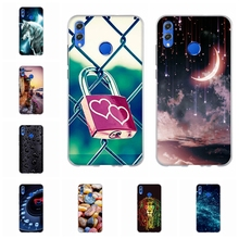 For Huawei Honor 8X Cover Soft TPU Silicone View 10 Lite Case Floral Patterned 8 X Shell Funda