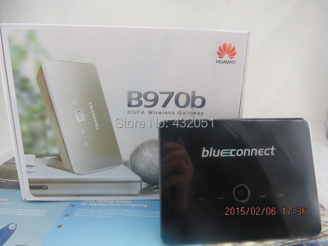 Desbloqueado huawei b970b 3g roteador hotspot wi-fi sem fio modem hsdpa 7.2 mbps