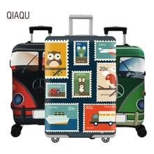 Luggage-Cover Suitcase Travel Trolley Cartoon QIAQU 18-32inch