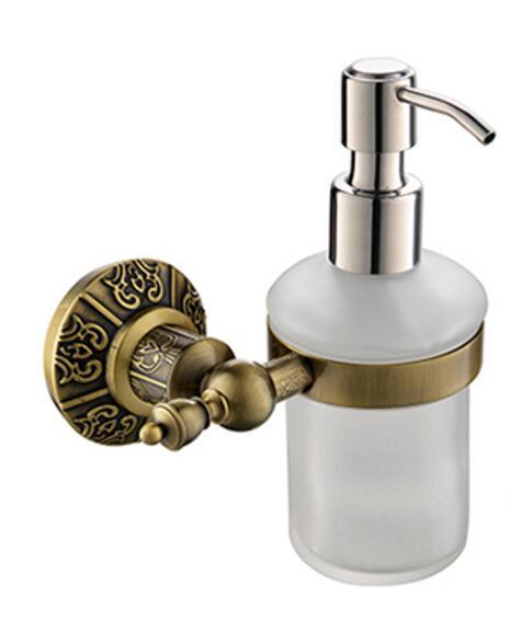 Free Shipping Brass Antique Bronze Soap Dispenser Holder, Liquid Soap  Dispenser, Bathroom Fittings,