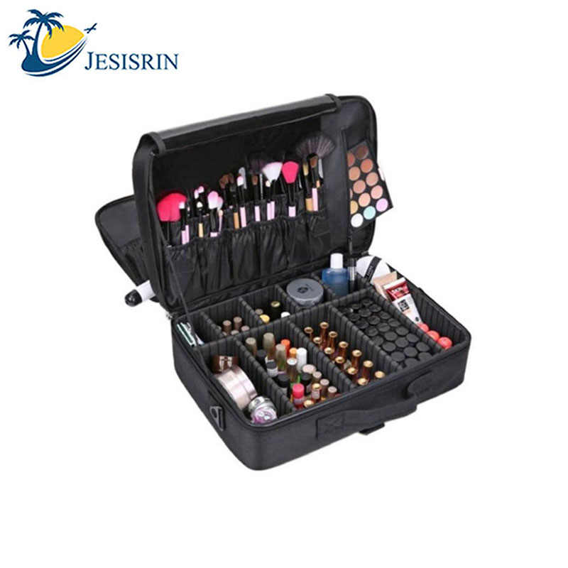 Makeup Artist Travel Accessories Professional Beauty Cosmetic Case & Cosmetic Bag Semi-permanent Tattoo Nails Multi-Lay