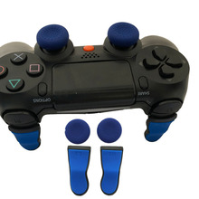 Extended L2 R2 Trigger Buttons Extender with 2 silicone Thumbstick caps For Sony Playstation 4 PS4