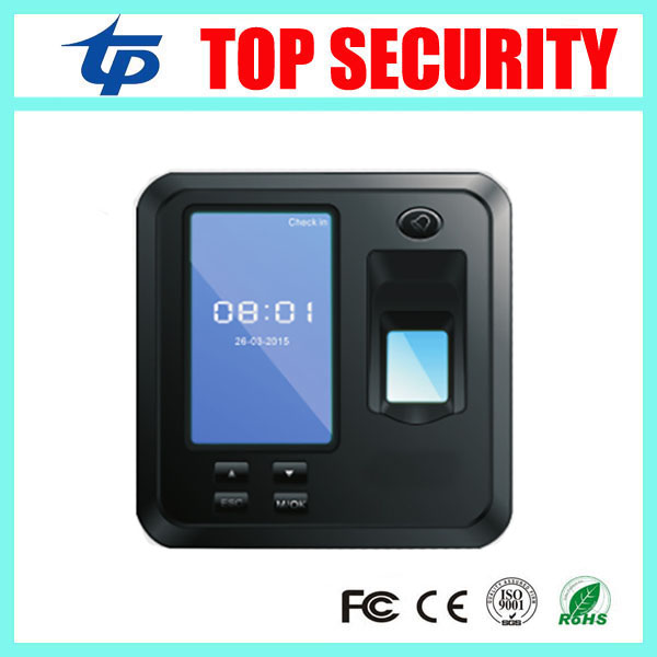 TCP/IP color screen biometric fingerprint door access control system standalone fingerprint time attendance with free software tcp ip biometric face recognition door access control system with fingerprint reader and back up battery door access controller