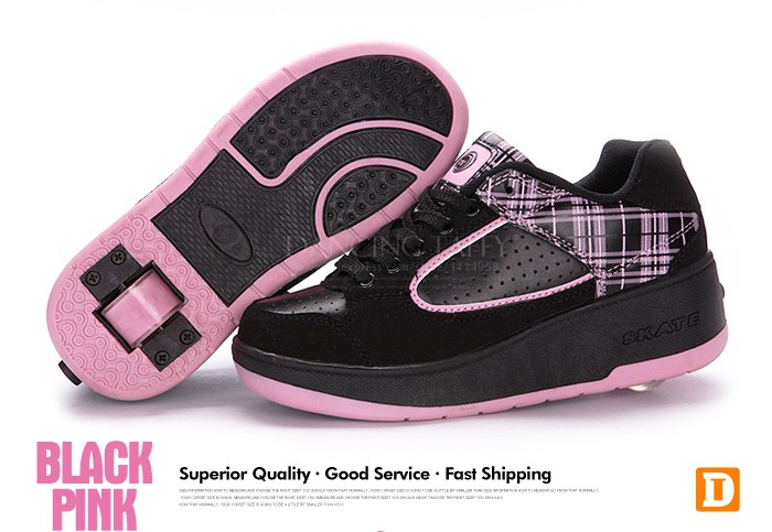 New Fasion Children Shoes With Wheels Girls Boys Roller Skate Shoes For Kids Sneakers With Wheels Wheelies Shoes Eu Size 29-40 DTW001 (9)