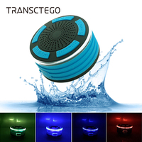 TRANSCTEGO Bluetooth speakers LED breathing lamp waterproof Bluetooth audio small speakers FM radio speakers outdoor
