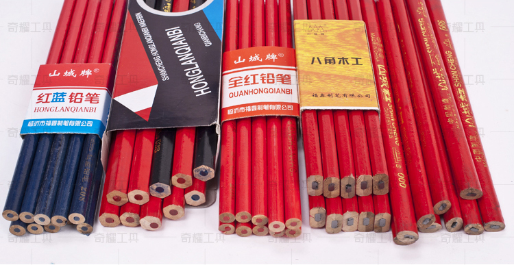 New Coming Blue And Red Two Sides Writing Double Slider Colored Pencil Creative Pencil On Sale Cheapest  Free Shipping