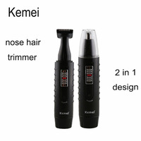 Kemei 9688 New Rechargeable 2 In 1 Beard Hair Shaver Nose Ear Hair Trimmer