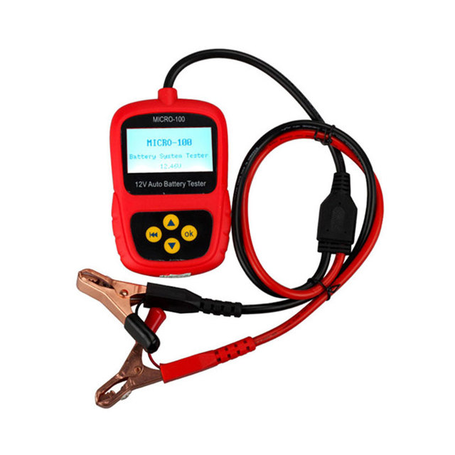 MICRO-100 AUGOCOM Auto Digital Battery Tester Analyzer Testing Tools with LCD Display Conductance & Electrical System Analyzer