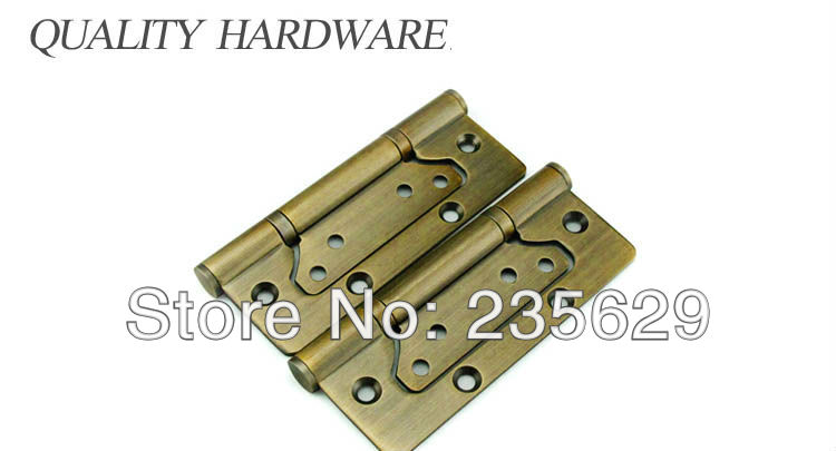Free Shipping, Antique Brass Finished Hinges for timber door,Metal Door, Stainless Steel material, 5*3*3, Stainless Steel screw free shipping wall mounted brass door stopper suitable for interior doors door holders for sale high suction 356g