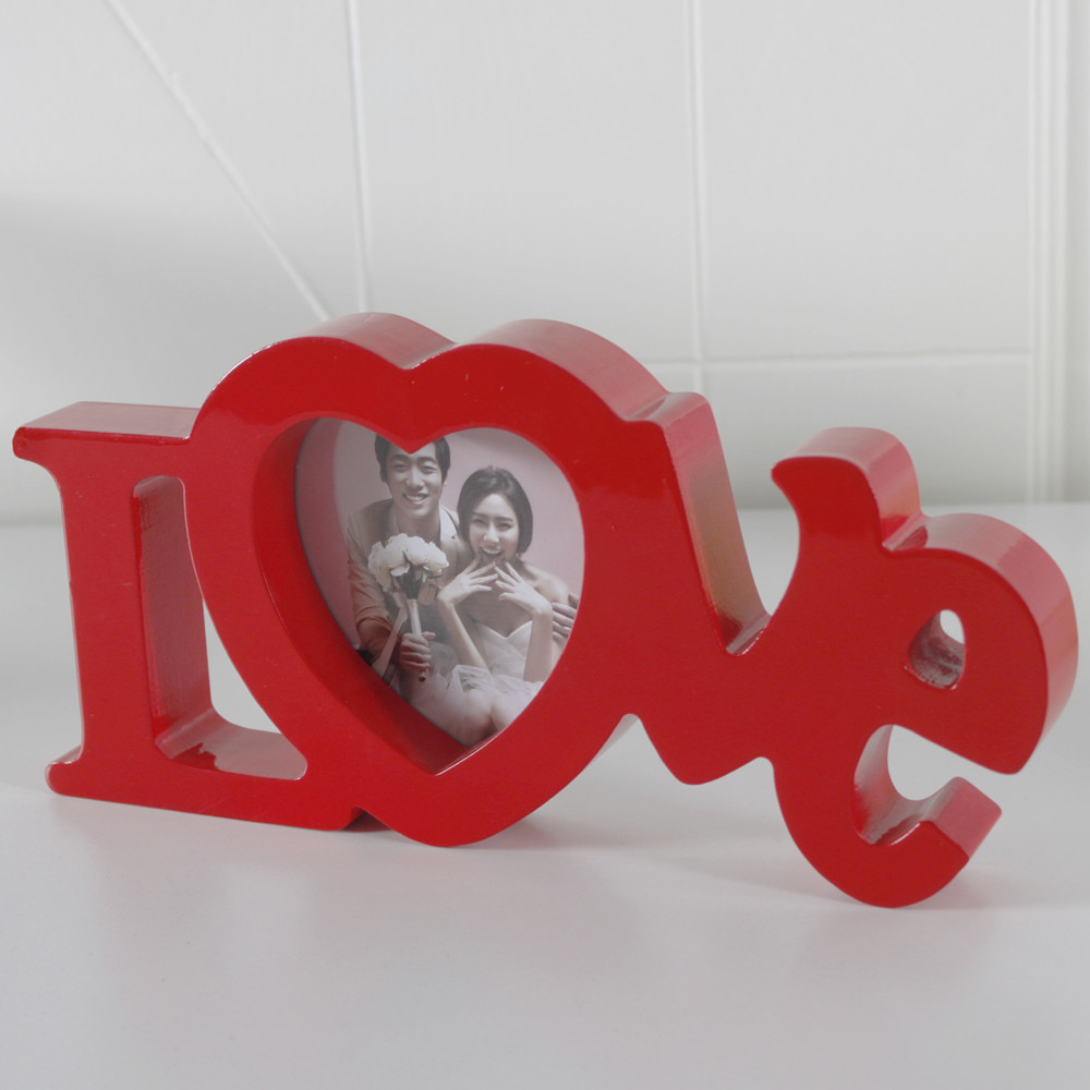 Amor rojo madera Marcos madera forma del corazón imagen Marcos S ...