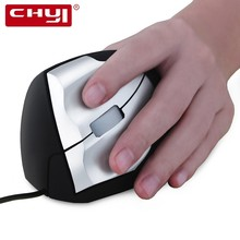 hot deal buy chyi wired vertical mouse ergonomic 800/1200/1600 dpi usb cable left hand wrist protect mice + mouse rest pad kit for pc laptop