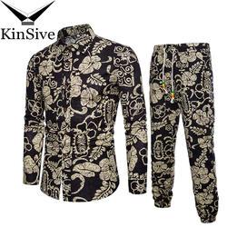 Для мужчин s футболки спортивные штаны комплекты из двух предметов пляжная одежда Вечерние рубашки костюм 2018 Для мужчин Уличная мода с