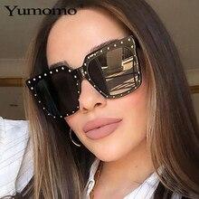 все цены на Fashion Oversized Square Sunglasses Women And Men Trendy Stylish Luxury Brand Designer Vintage Black Tinted Color Lens UV400 онлайн