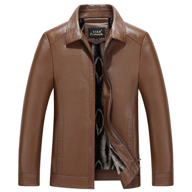 1755 New Fashion Men Clothes Spring Genuine Leather Jacket Zipper Coat Autumn Sheepskin Leather Coat