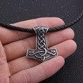 52d5813503ab Dropshipping Acero inoxidable viking thor martillo mjolnir colgante collar  nudo celta norse collar hombres regalo