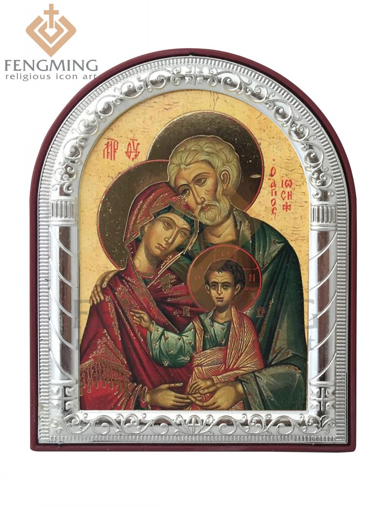 can custom fashion religious gifts greek art byzantine icons sale the holy family catholic image of metal frame on plastic