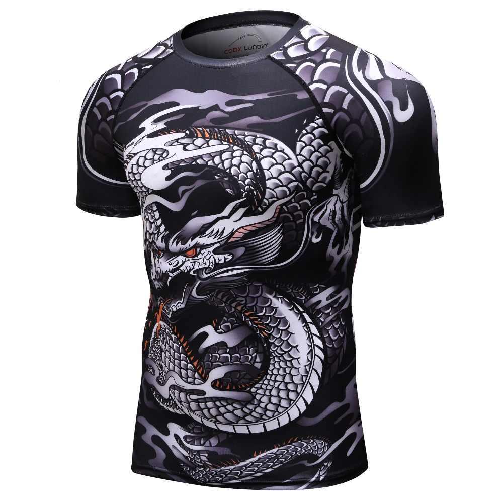 2018 nova camisa de compressão bjj rashguard t camisa masculina mma fitness muscle ufc luta superior muay thai tees jiu jitsu apertado luta