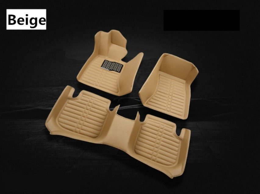 For Hyundai Veloster 2011-2018 Floor Mats Auto Foot Carpets Step Mat High Quality Water Proof Clean Solid Color auto floor mats for honda cr v crv 2007 2011 foot carpets step mat high quality brand new embroidery leather mats