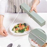 Plastik sarma dağıtıcı mutfak gereçleri sarılmak gıda sarma kesici dağıtıcı Film kesici depolama tutucu mutfak aksesuarları kesicili folyo