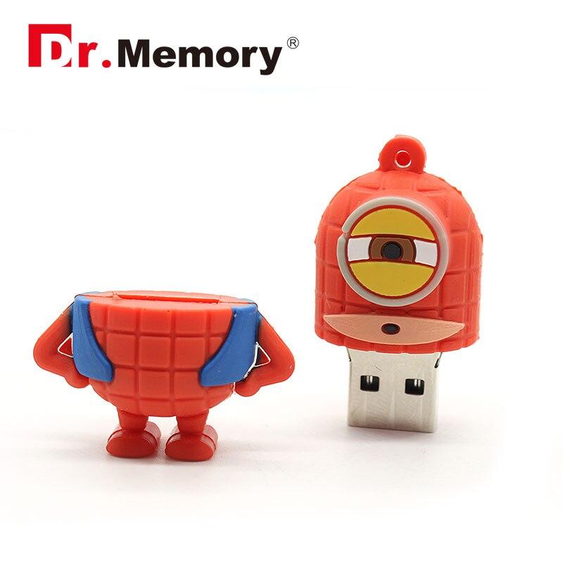 Pen drive Minion USB Flash Drive on hot sale usb flash 4GB/8GB/16GB/32GB usb2.0 usb stick <font><b>spiderman</b></font> flash disk 64GB chips