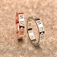 Luxury Brand Celebrity Jewelry Ceramic Titanium Steel Ring For Men Women 18K Gold Couple Rings US