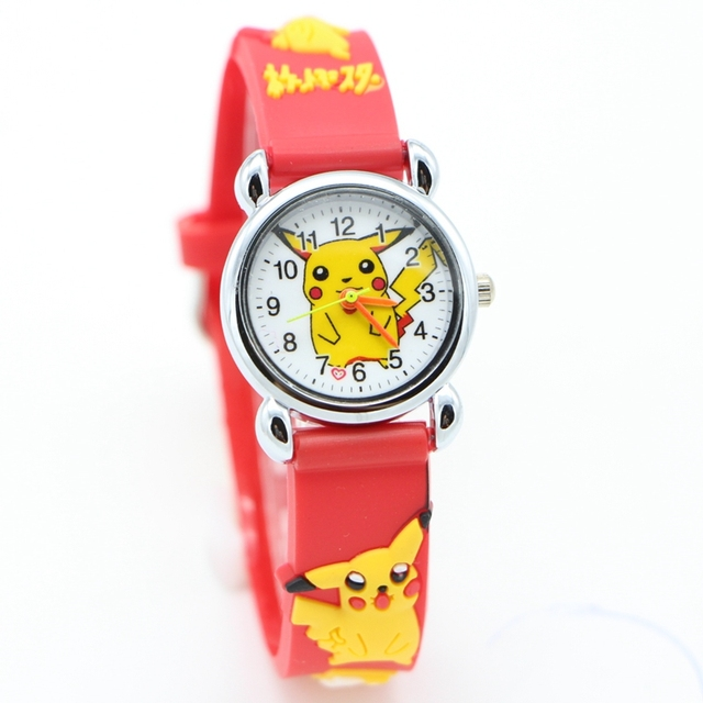 New 3D Cartoon fashion watch pikachu kids Watch Children Kids Girls Boys Student