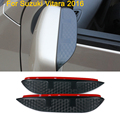 Diseño de Coches de Carbono espejo retrovisor lluvia ceja Impermeable Protector De Lámina Flexible de Accesorios Para Suzuki Vitara 2016