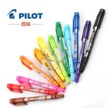 Хорошее Япония PILOT две точки маркером знак ручки 12 Цветов двойной головкой написание Рисунок Живопись не ксилол офисные SCA-ТМ