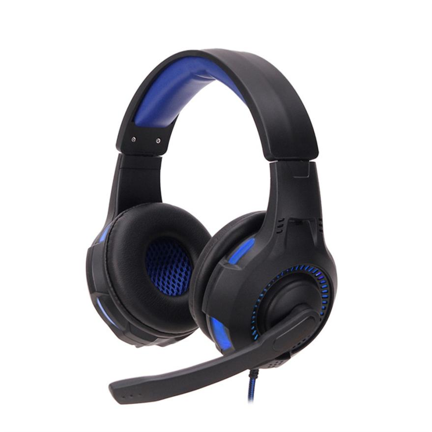 Surround Stereo Gaming Headset Headband Headphone 3.5mm with Mic for PC OC06  Dropship each g8200 gaming headphone 7 1 surround usb vibration game headset headband earphone with mic led light for fone pc gamer ps4