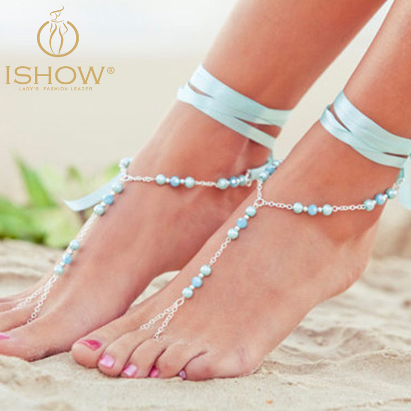 summer statement style gemstone selling beach crystal big hot anklets product sandal for ankles bracelet women sexy leg store jewelry anklet boho chain