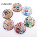 6 pieces/lot Fashion Round Lampwork Art Murano Glass Pendants Fit for  Necklace Unique DIY Girl Gift Charms Jewelry Making C317