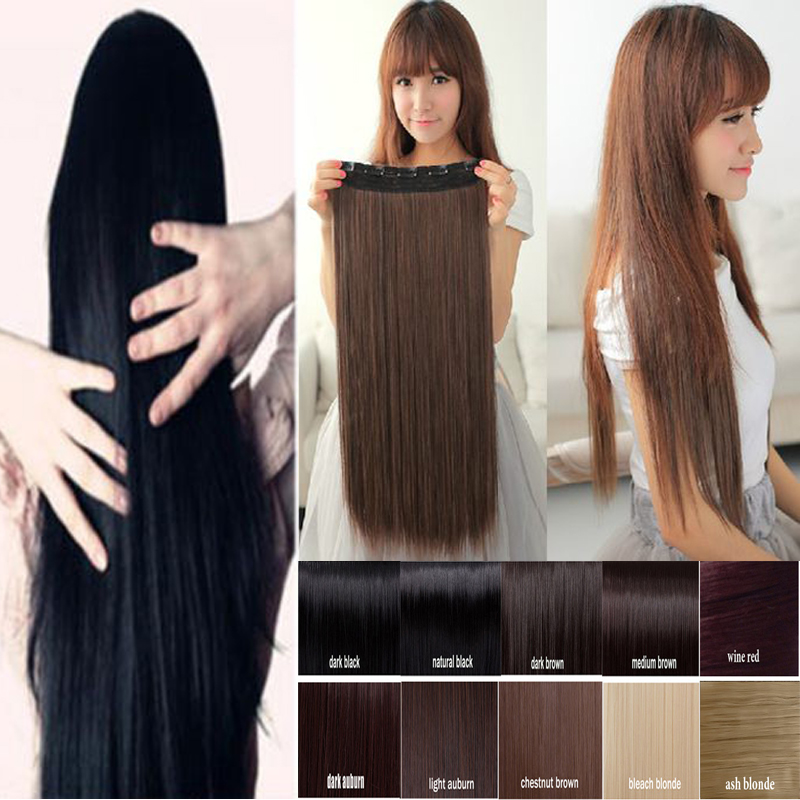 Long clip in hair extensions one piece 30 inches 76cm straight long clip in hair extensions one piece 30 inches 76cm straight black brown blonde sythetic hair extensions natural hair on aliexpress alibaba group pmusecretfo Choice Image